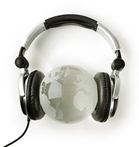 Listen to English around the World.